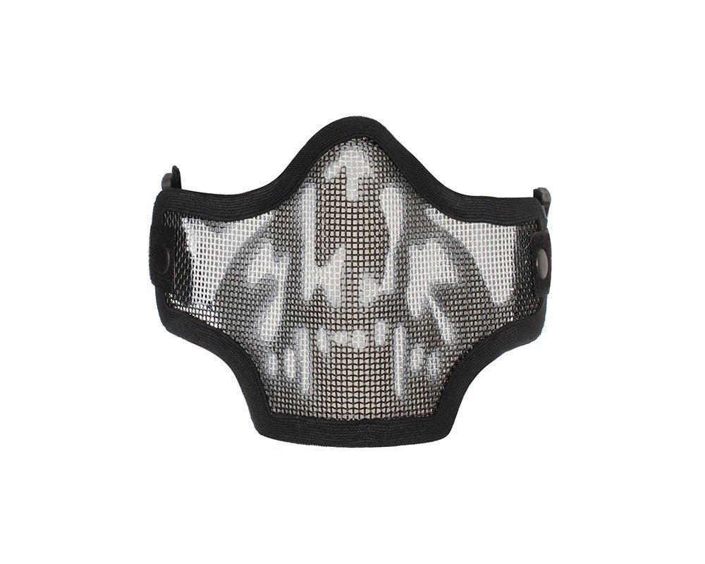 2G Strike Steel Half Airsoft Mask - Skull
