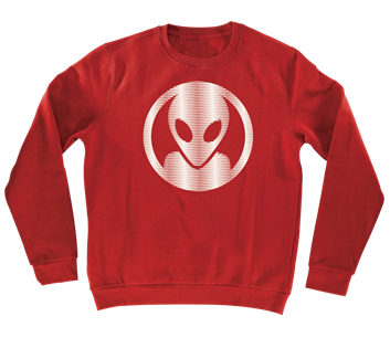 Alien Workshop Dot Moire Crew - Red - Men's Sweatshirt