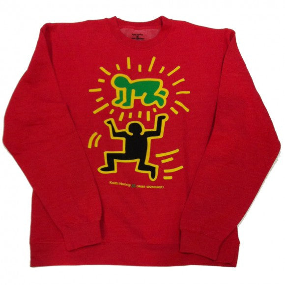 Alien Workshop Keith Haring Elevate Baby Crew - Red - Men's Sweatshirt