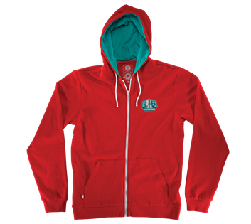 Alien Workshop OG Simplex 2 Zip Hoodie - Red - Men's Sweatshirt