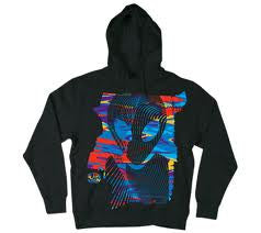 Alien Workshop Vortex Hoodie Full Zip - Black - Mens Sweatshirt