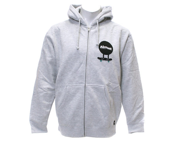 Almost Discman Zip Hoodie - Athletic Heather - Sweatshirt