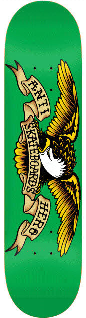 Anti-Hero Eagle Medium - Green/Yellow - 7.81 - Skateboard Deck