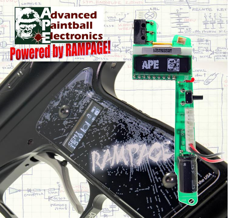 APE Rampage OLED Board w/ Grips For The Dangerous Power E1