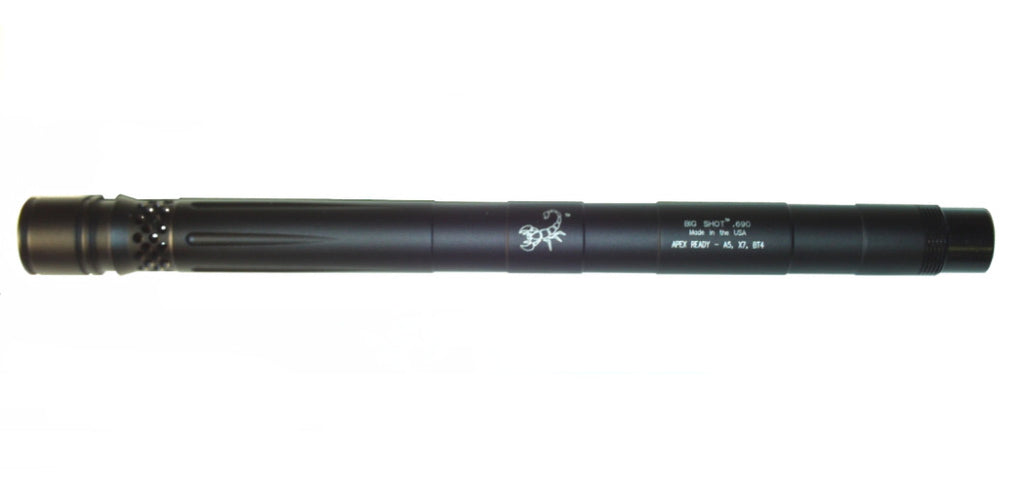 "Lapco Spyder Big Shot Apex Ready Barrel - 12"" - .687 - Dust Black"