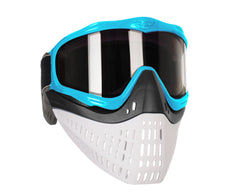 JT ProFlex Thermal Paintball Mask w/ Smoke Lens - Aqua w/ Black/White Bottoms