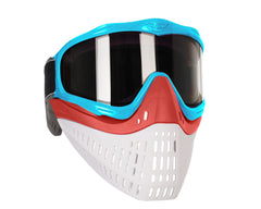 JT ProFlex Thermal Paintball Mask w/ Smoke Lens - Aqua w/ Red/White Bottoms