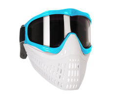 JT ProFlex Thermal Paintball Mask w/ Smoke Lens - Aqua w/ White/White Bottoms