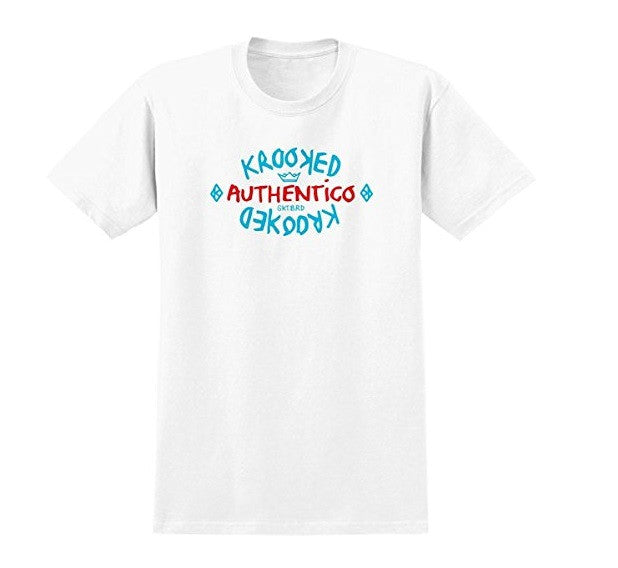 Krooked Authentico S/S - White - Men's T-Shirt