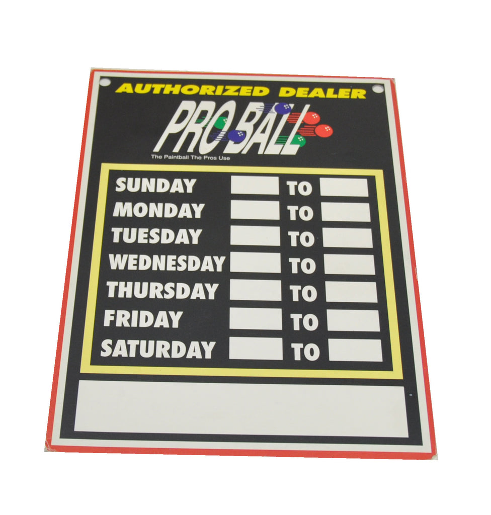 Proball Paintball Door Sign - Black