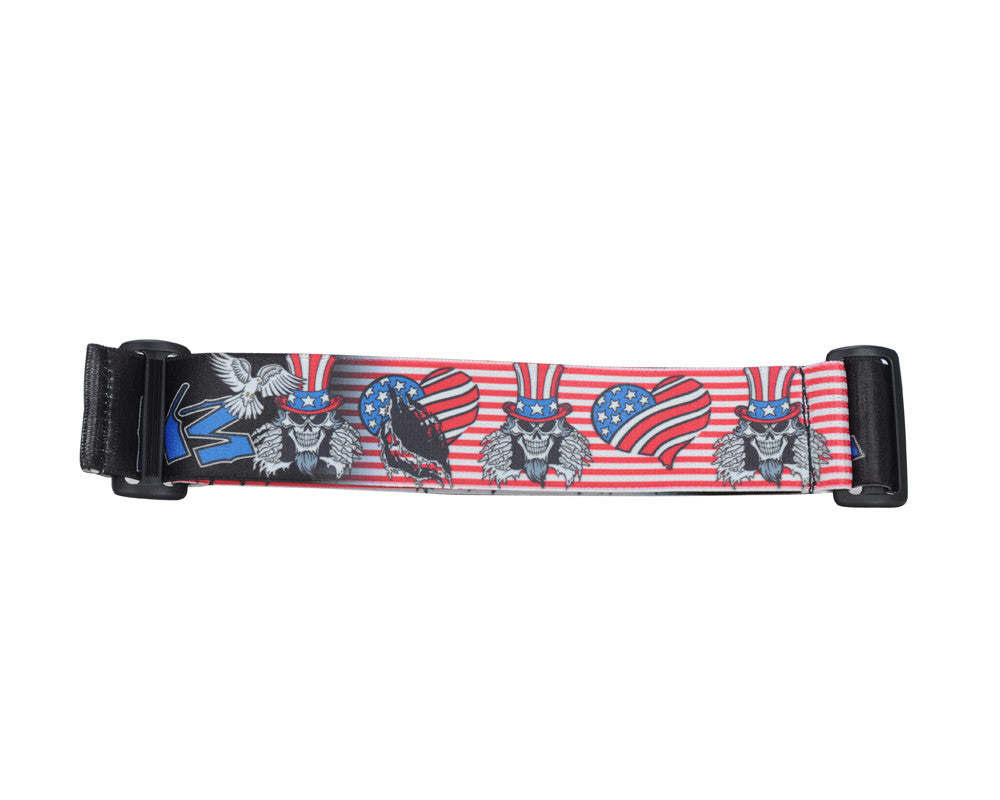 KM Paintball Goggle Strap - 09 American Skull