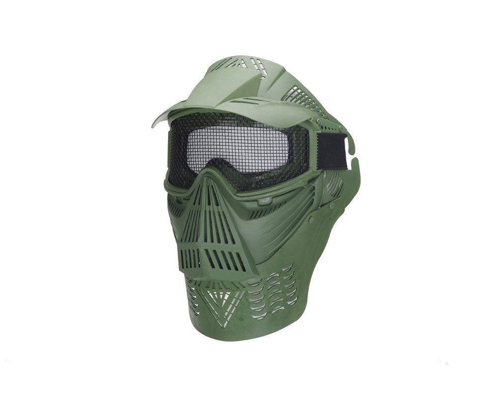 Airsoft Full Coverage Tactical Mask - Green