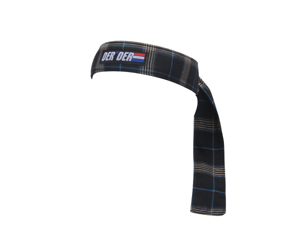Der Der Headband - Dark Blue Plaid