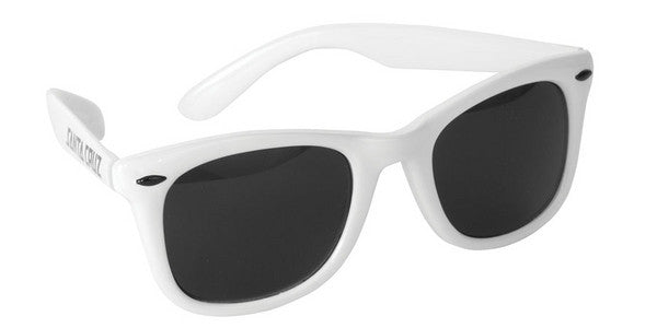 Santa Cruz Strip Shades Sunglasses White OS Unisex - Sunglasses