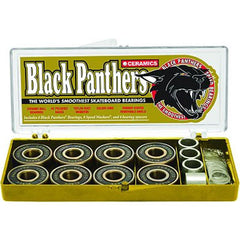 Shorty's Qik Black Panthers - Ceramics - Skateboard Bearings (8 PC)