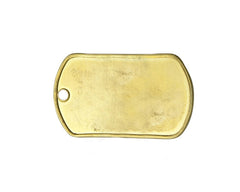Blank Dog Tag - Brass