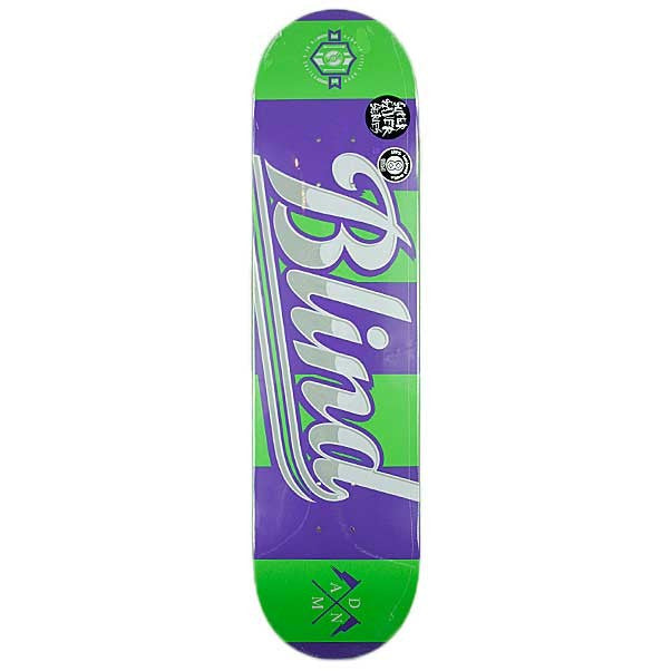 Blind Rugby SS - Purple/Green - 8.0 - Skateboard Deck