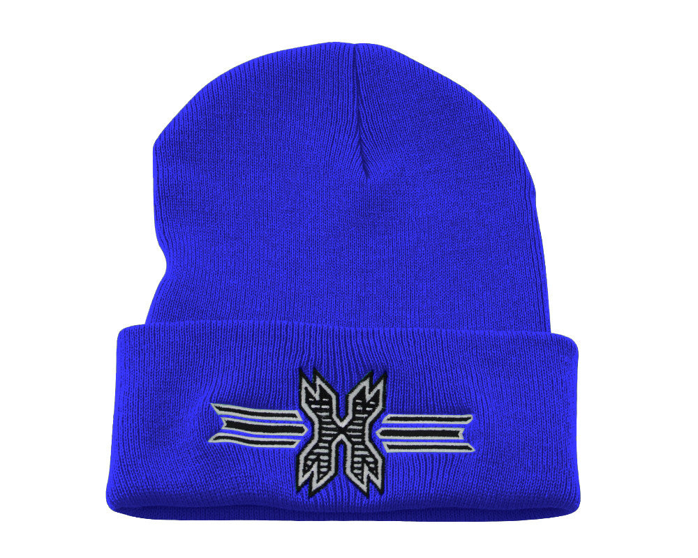 HK Army Icon Beanie - Blue/Black Stitch