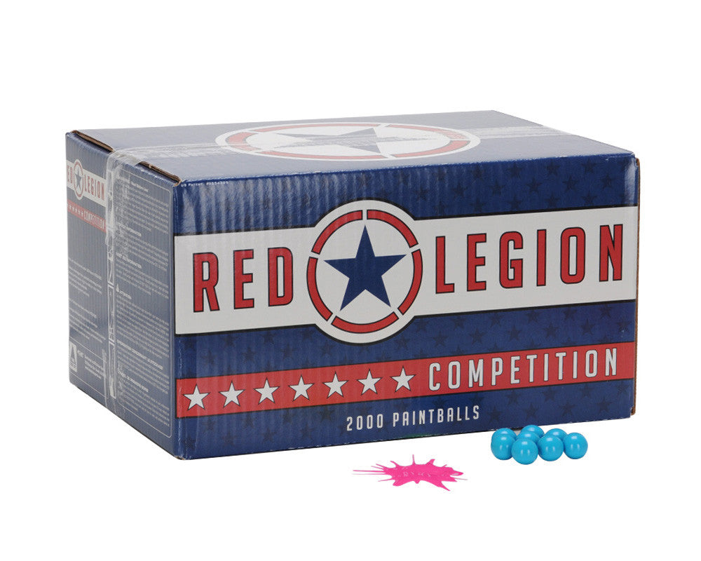 Red Legion Paintballs Case 1000 Rounds - Pink Fill