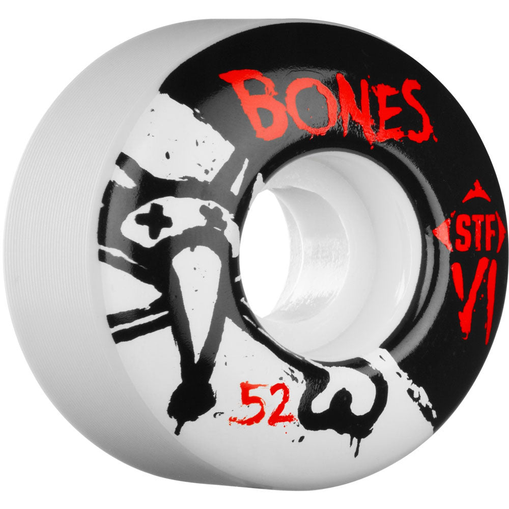 Bones STF V1 Series - White - 52mm 83b - Skateboard Wheels (Set of 4)
