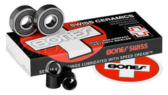 Bones Swiss Ceramic Competition Bearings - Skateboard Bearings (8 PC)