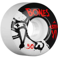 Bones STF V1 Series - White - 50mm 83b - Skateboard Wheels (Set of 4)
