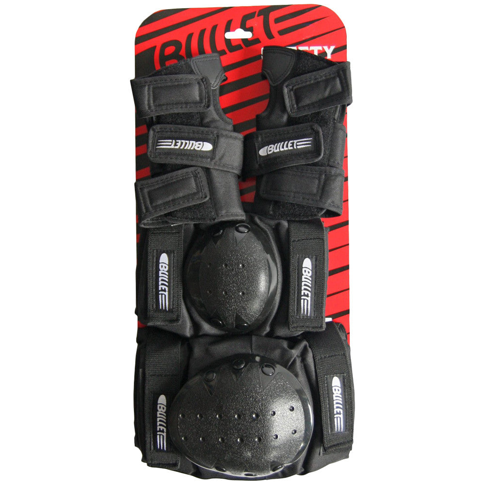 Bullet Junior Set - Black - Skateboard Pads