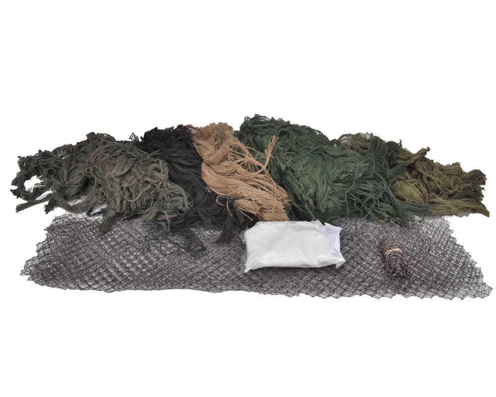 Bushrag Customizable Ghillie Kit - Large - Woodland (65110)