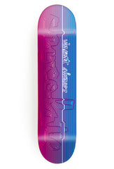 Chocolate Alvarez Division Pop Secret - Blue/Pink - 8.5in - Skateboard Deck