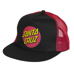Santa Cruz Classic Dot Trucker Mesh Hat - Black/Red