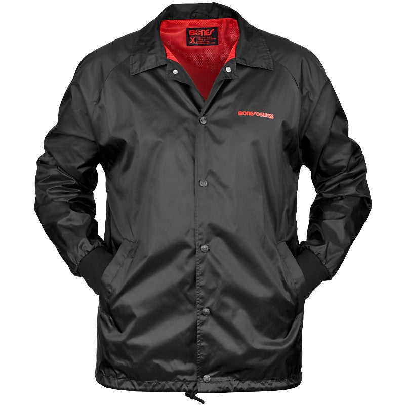 Bones Bearings Windbreaker - Black - Mens Jacket