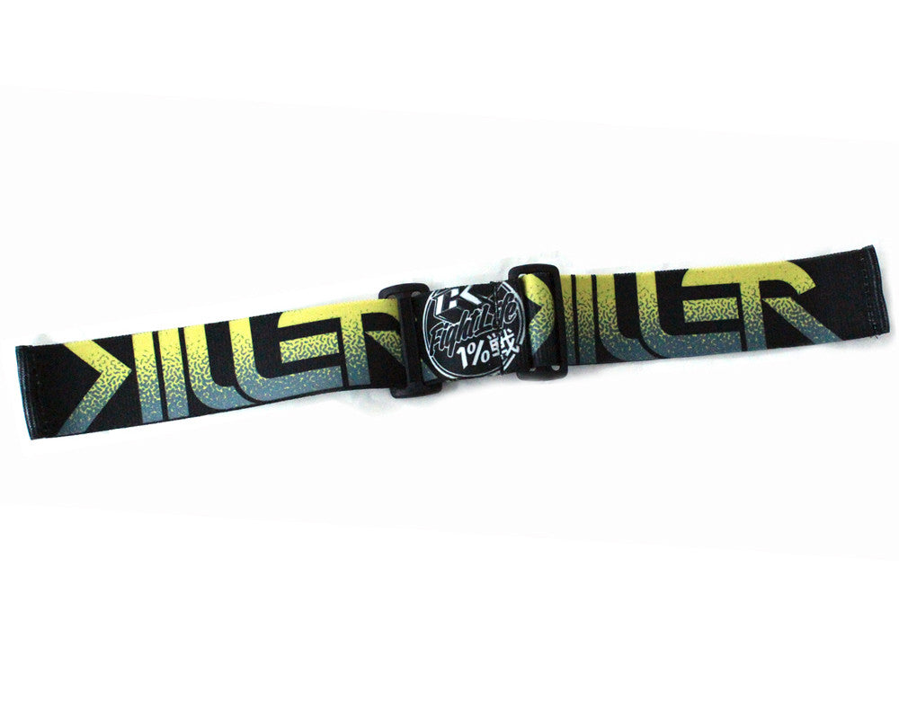 Contract Killer Goggle Strap - Black/Yellow Killer