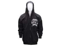 Contract Killer CK Factory Zip Up Hoody - Black/White