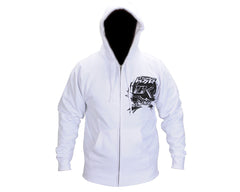 Contract Killer CK Factory Zip Up Hoody - White