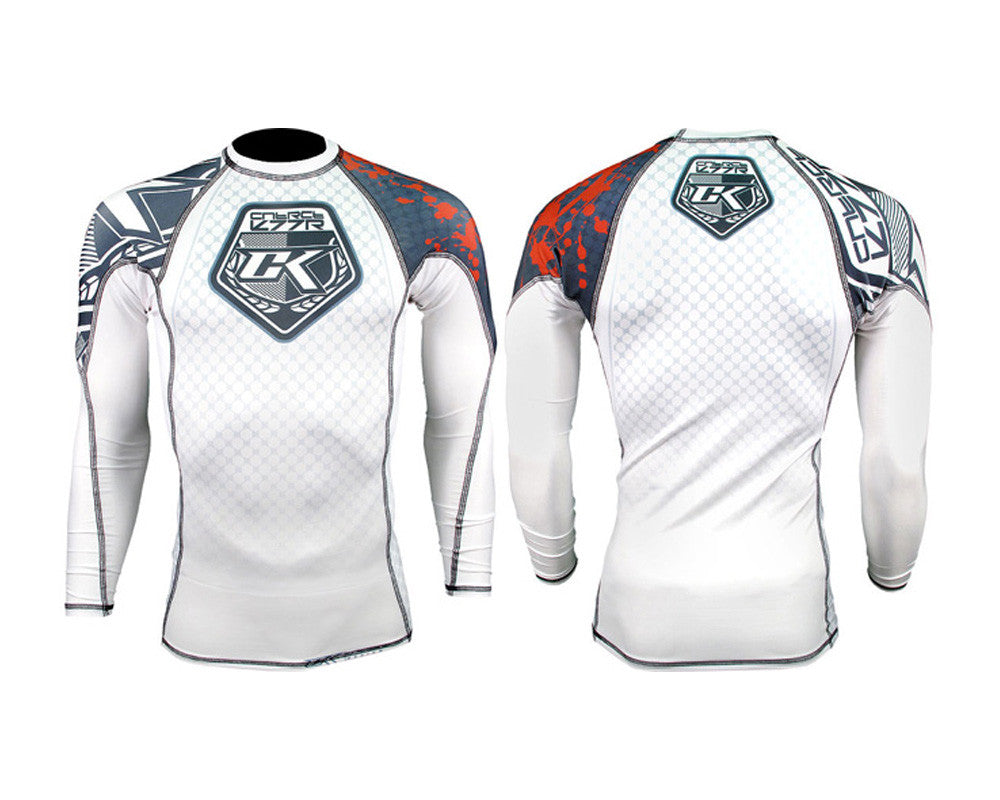 Contract Killer Long Sleeve Stained Rashguard - White