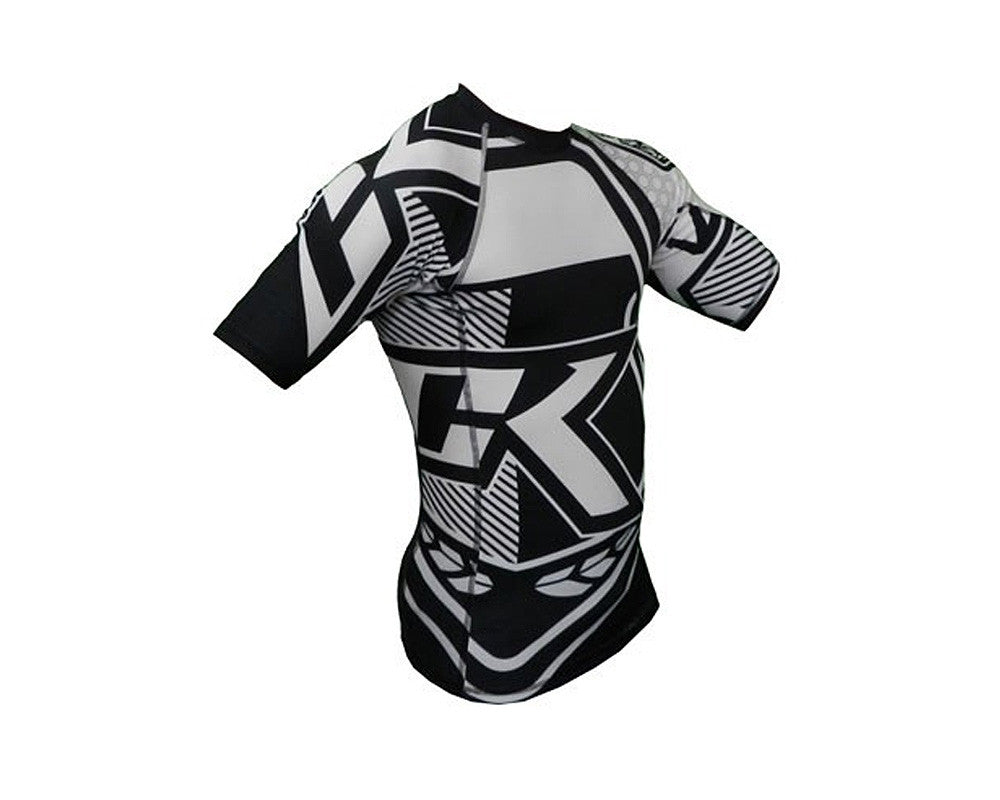 Contract Killer Long Sleeve Stained Rashguard - B&W