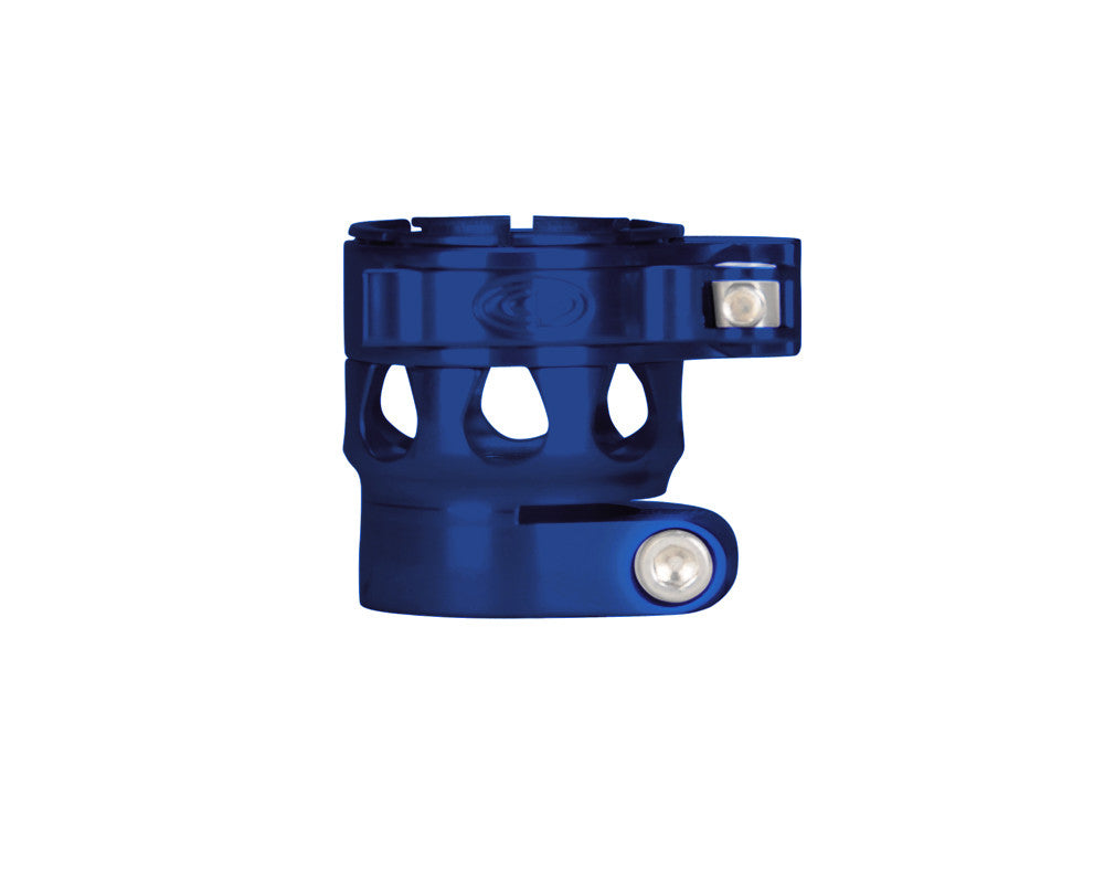Custom Products CP Ego 07/08/09/10/11 Clamping Feed Neck - Blue