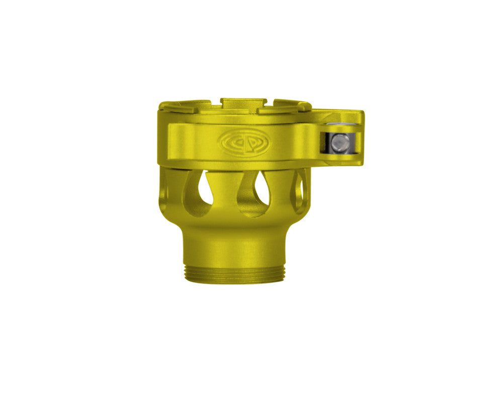 Custom Products CP Spyder VS1, VS2, VS3, RS, & RSX Clamping Feed Neck - Dust Yellow