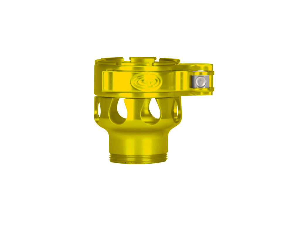 Custom Products CP Spyder VS1, VS2, VS3, RS, & RSX Clamping Feed Neck - Yellow