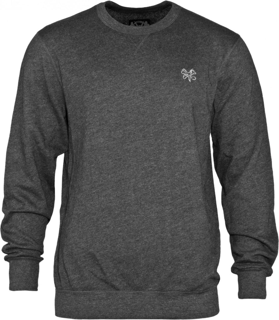 Bones Wheels Crew Neck Sweatshirt - Charcoal - Mens Sweatshirt