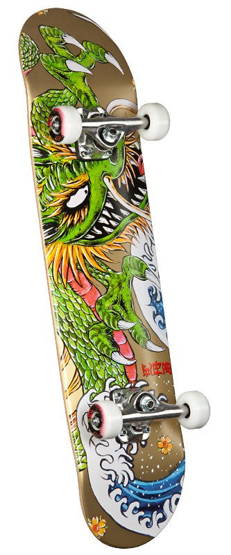 Powell Golden Dragon Steve Caballero Ink - 7.625in x 31.625in - Complete Skateboard