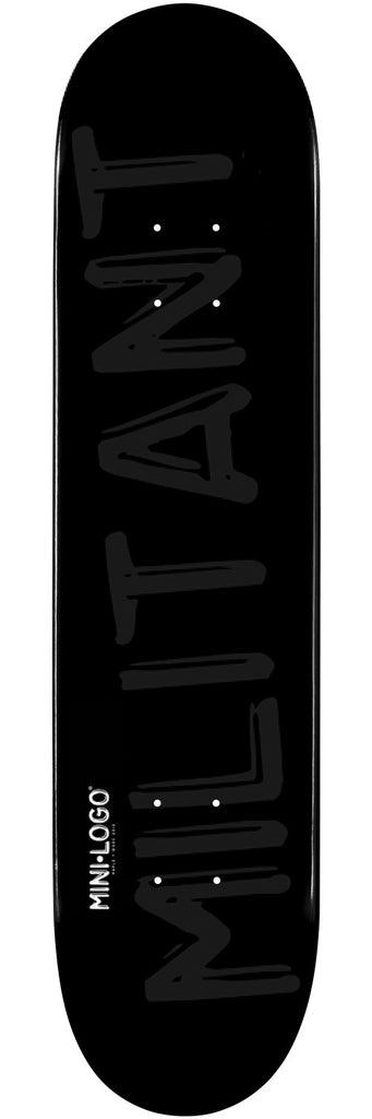 Mini Logo - Black Militant - 7.75 - Skateboard Deck