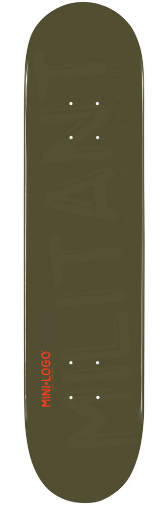 Mini Logo - Green Militant - 7.625 - Skateboard Deck