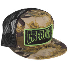 Creature Patch Trucker Mesh - Camo/Black - Men's Hat
