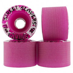 Divine Street Slayers - Purple - 72mm 82a - Skateboard Wheels (Set of 4)