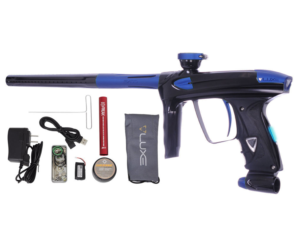 DLX Luxe 2.0 OLED Paintball Gun - Black/Dust Blue