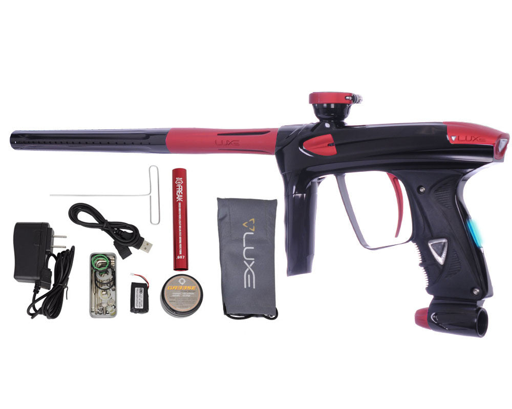 DLX Luxe 2.0 OLED Paintball Gun - Black/Dust Red