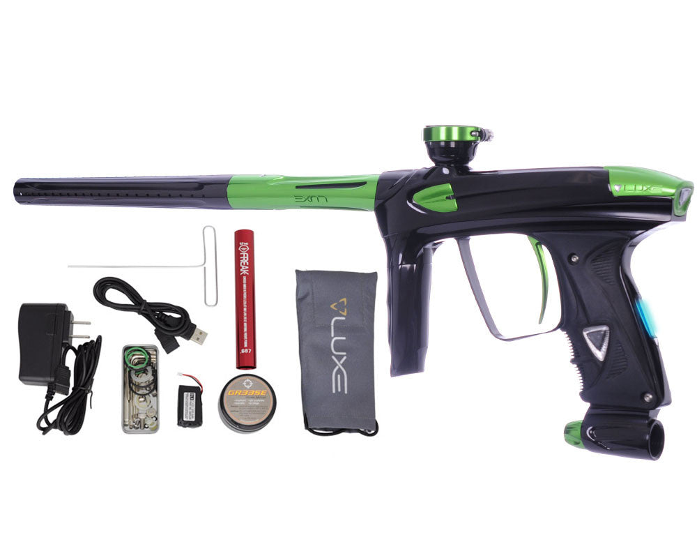 DLX Luxe 2.0 OLED Paintball Gun - Black/Slime Green