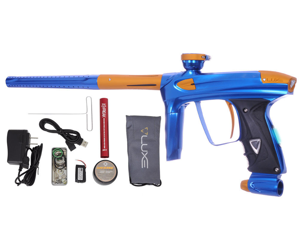 DLX Luxe 2.0 OLED Paintball Gun - Blue/Dust Gold