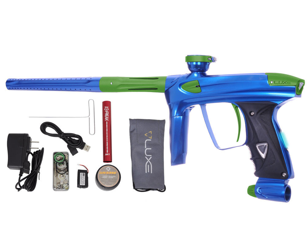DLX Luxe 2.0 OLED Paintball Gun - Blue/Dust Slime Green